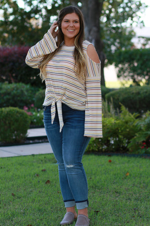 Run The Stripes Top