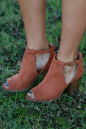 The Miller Peep Toe Bootie