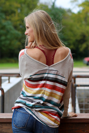 Setting Sun Striped Top