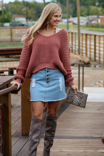 Knit Today Cropped Sweater
