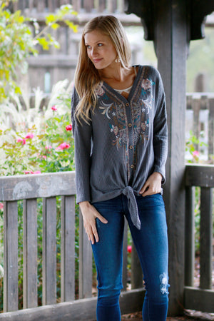 Eleanor Embroidered Top