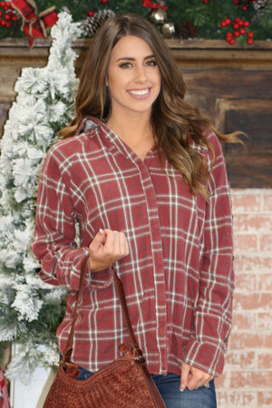 Plaid Habit Top