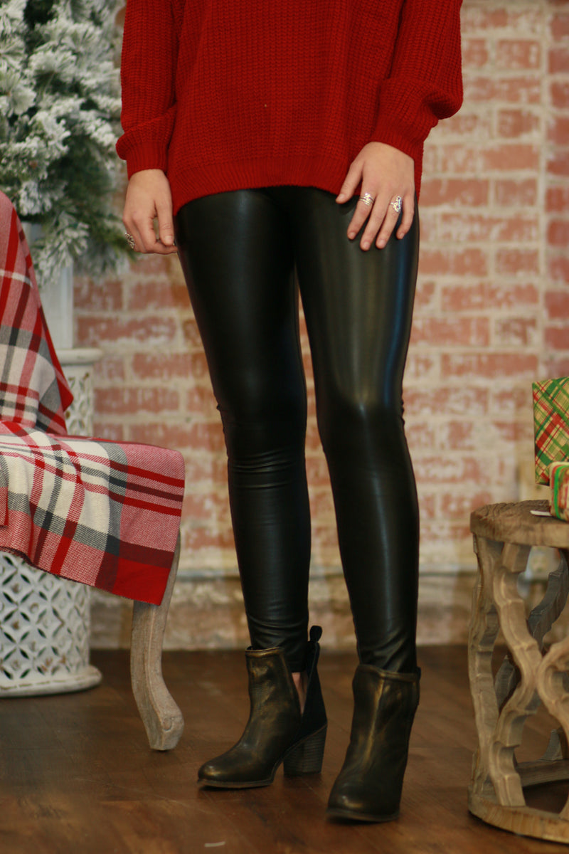The Night Is Young Leather Legging