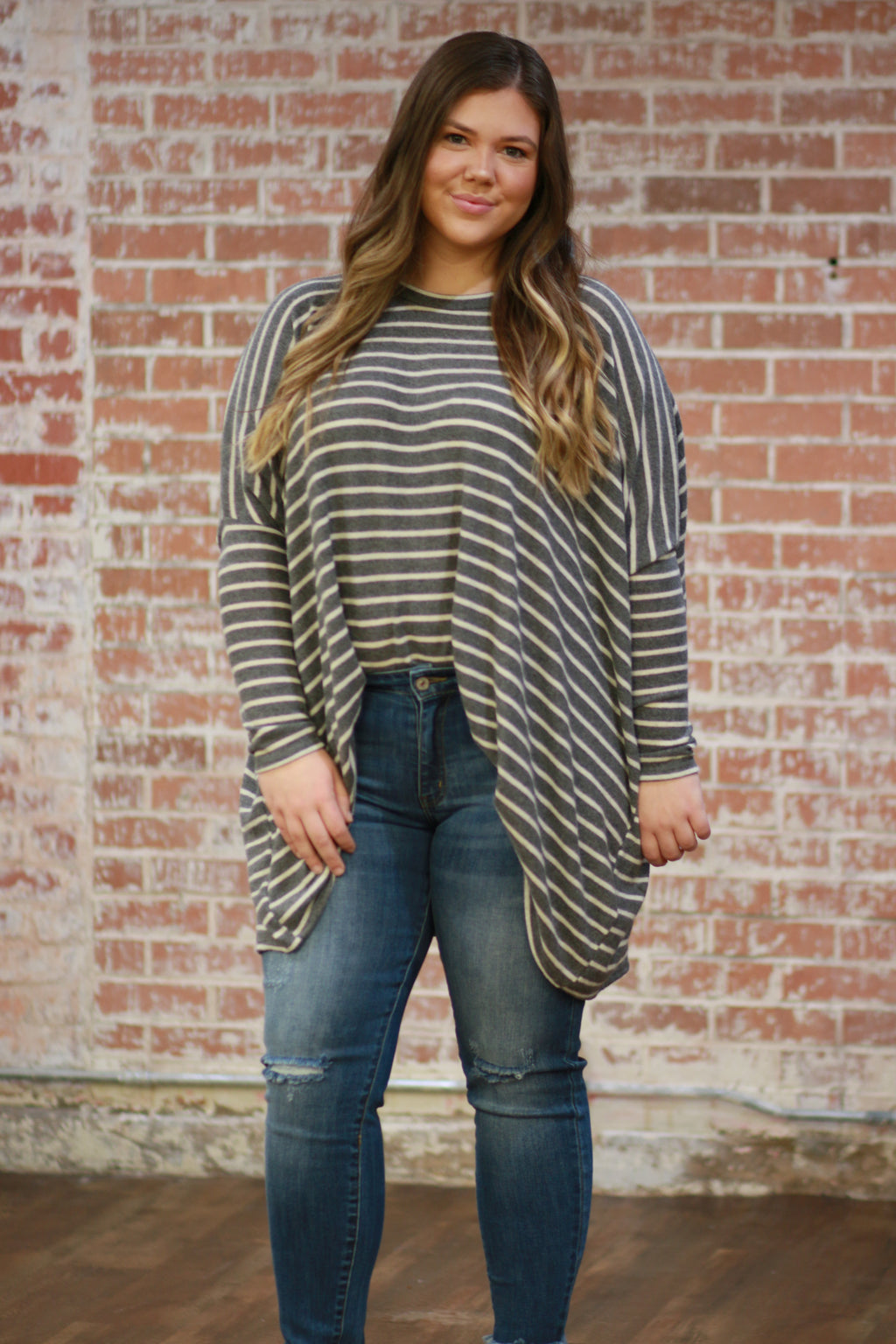 Big Moves Striped Tunic