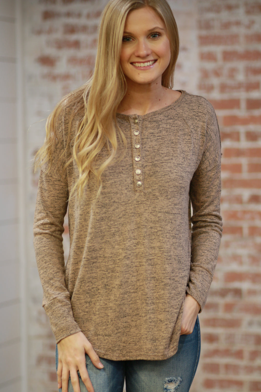 Always A Favorite Henley Top
