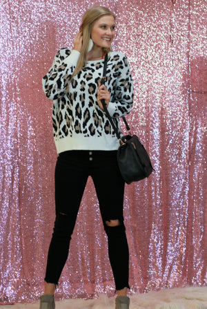 Double Take Leopard Sweater