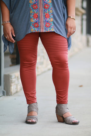 Marla Plus Moto Jeggings