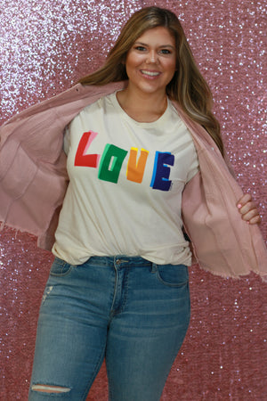 Multicolor Love Tee