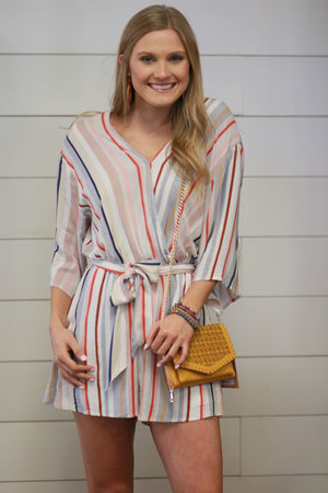 Channing Striped Romper