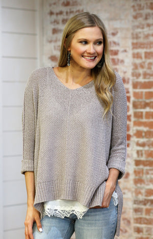Keeping Cozy Knit Sweater