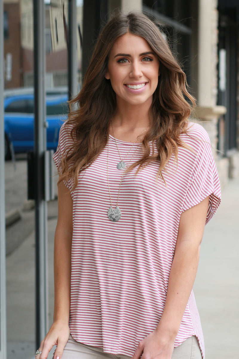 In Motion Striped Top