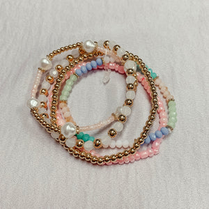 Spring Happy Bracelet Set
