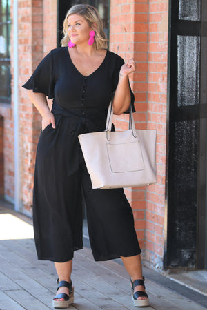 Just That Simple Curvy Jumpsuit