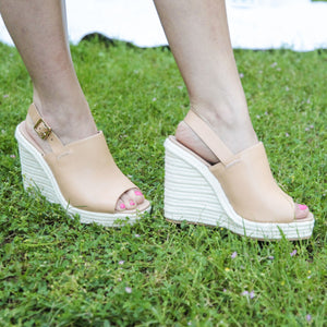 Cascading Love Wedge Sandals