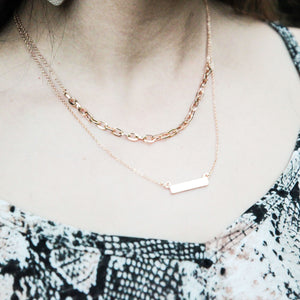 Chained Bar Layered Necklace
