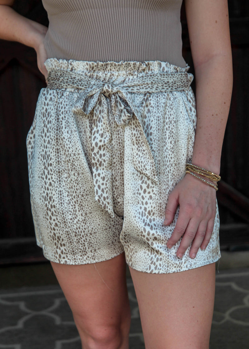 Clean Slate Animal Print Shorts