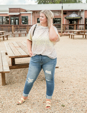 The Carolina Leopard Curvy Top