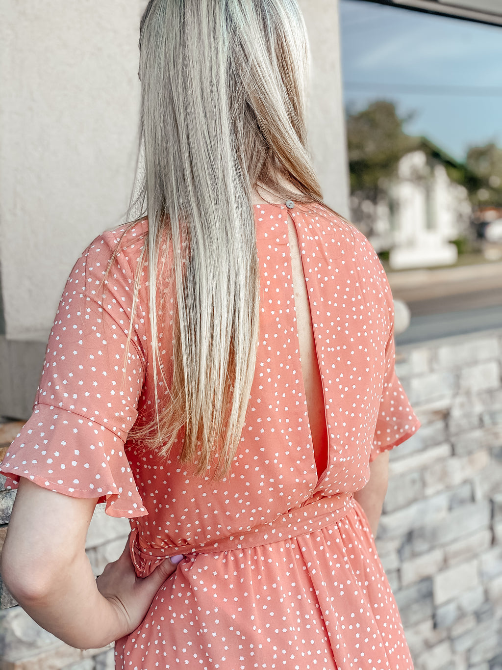 Life Is Peachy Romper