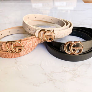 Skinny Belt Set of 3