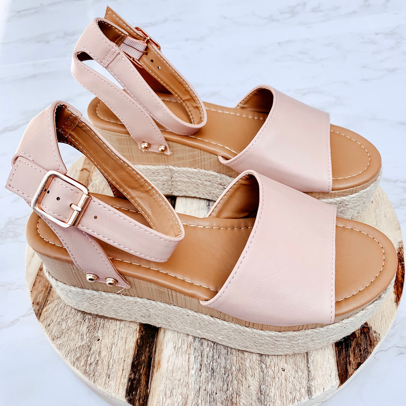 Poolside Prosecco Wedge Sandals