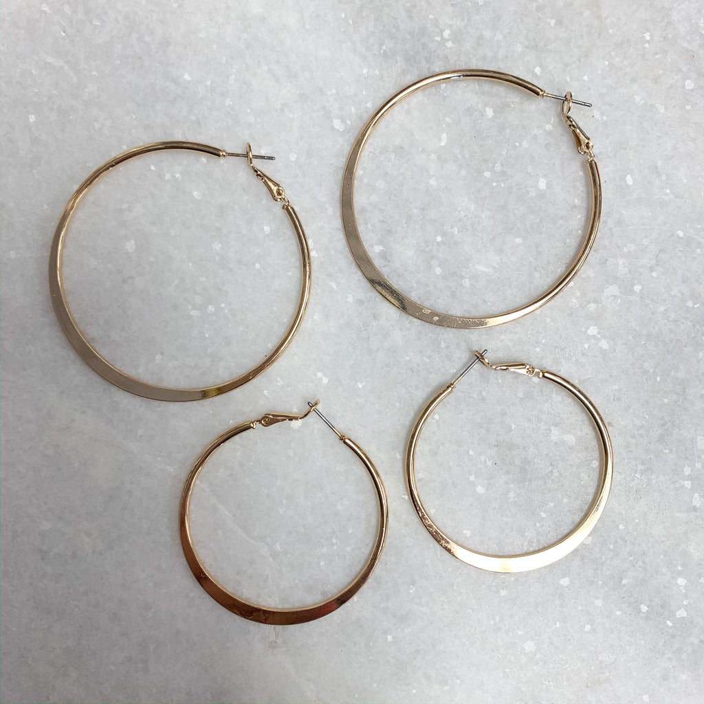Chic Selection Large Hoop Earrings