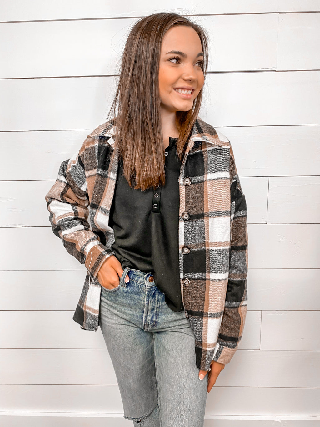 Cabin Retreat Plaid Shacket
