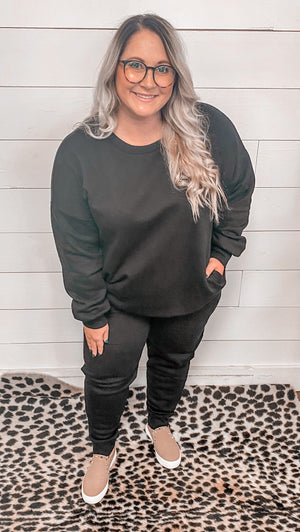 Easy Living Curvy Sweatshirt & Pant Set
