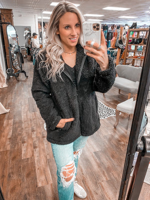 Cozy Confessions Sherpa Jacket