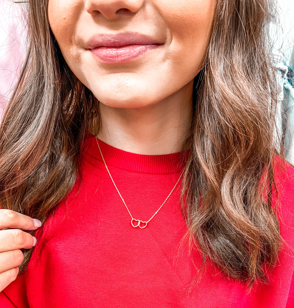 Double Heart Must Have Necklace