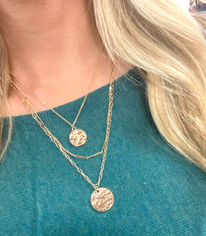 Triple the Fun Coin Layered Necklace