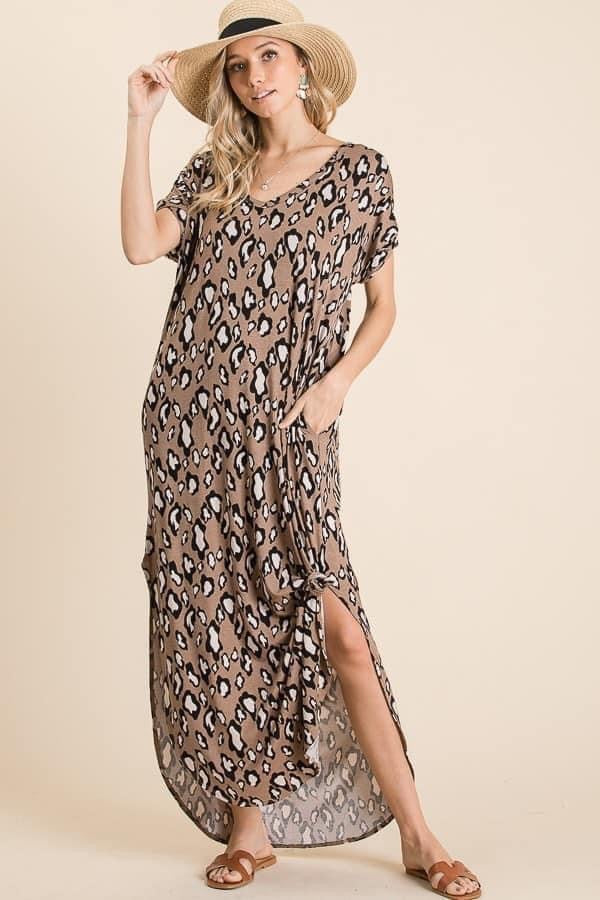 For the Love of Leopard Curvy Maxi