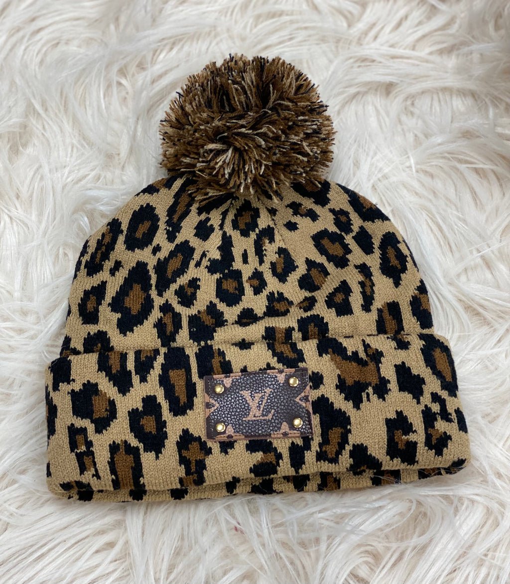 Leopard LV Patch Beanie
