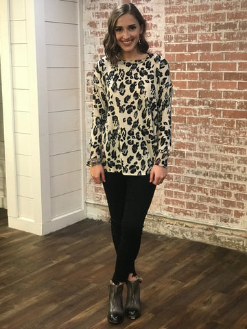 Lady In Leopard Top