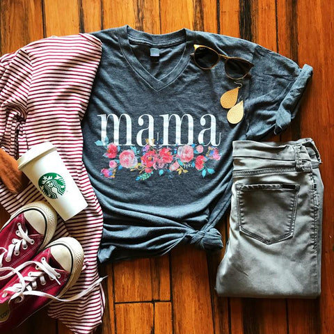 Mama Floral Tee