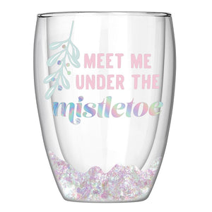 Under the Mistletoe Wine Glass