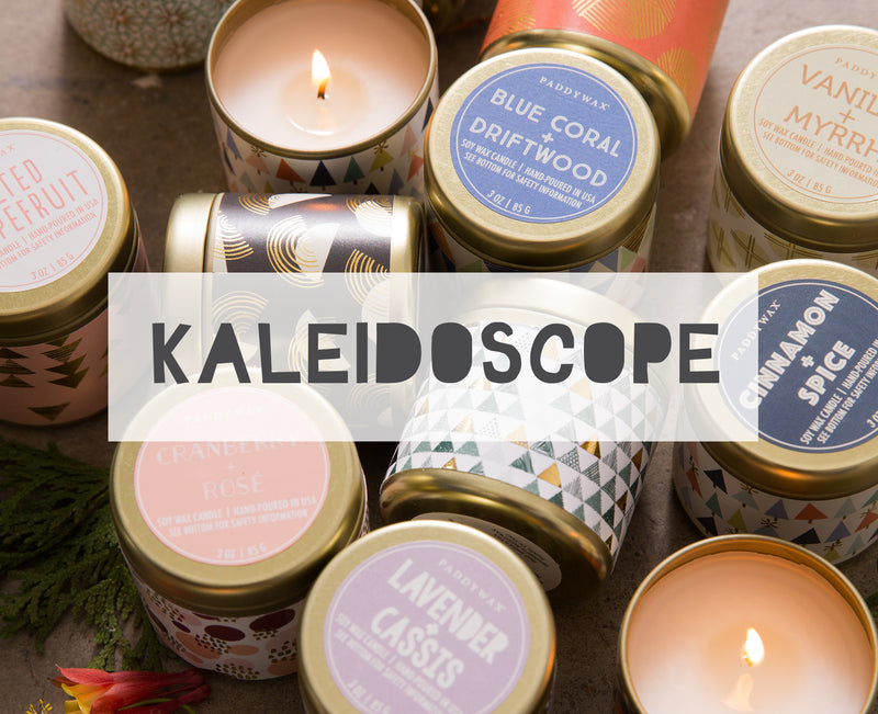 Kaleidoscope Tin Candle