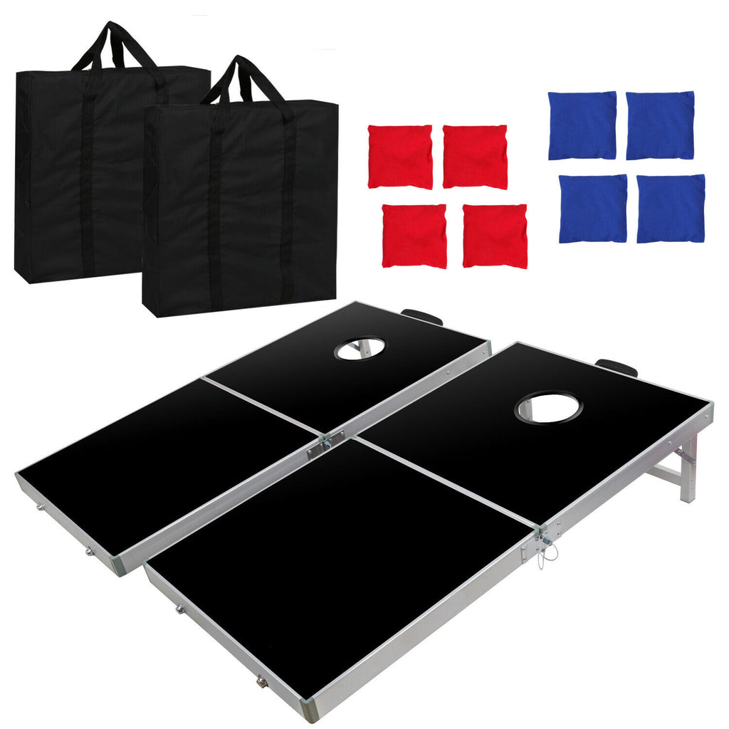 Foldable Bean Bag Toss Cornhole Game Set Boards Regulation Size 4 x 2FT EZ Set