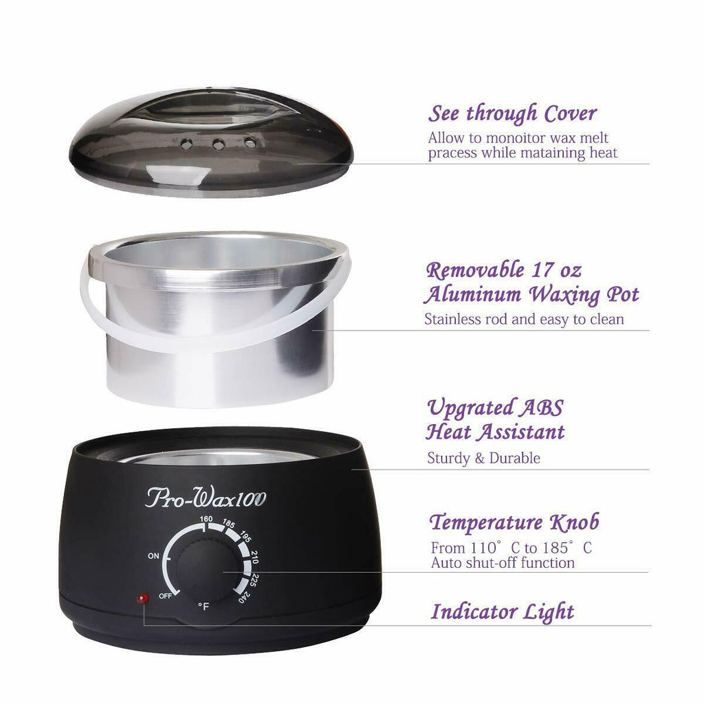 Waxing Kit, Wax Warmer for Women and Men, Painless Hair Removal Home Waxing Set, 2 Bag