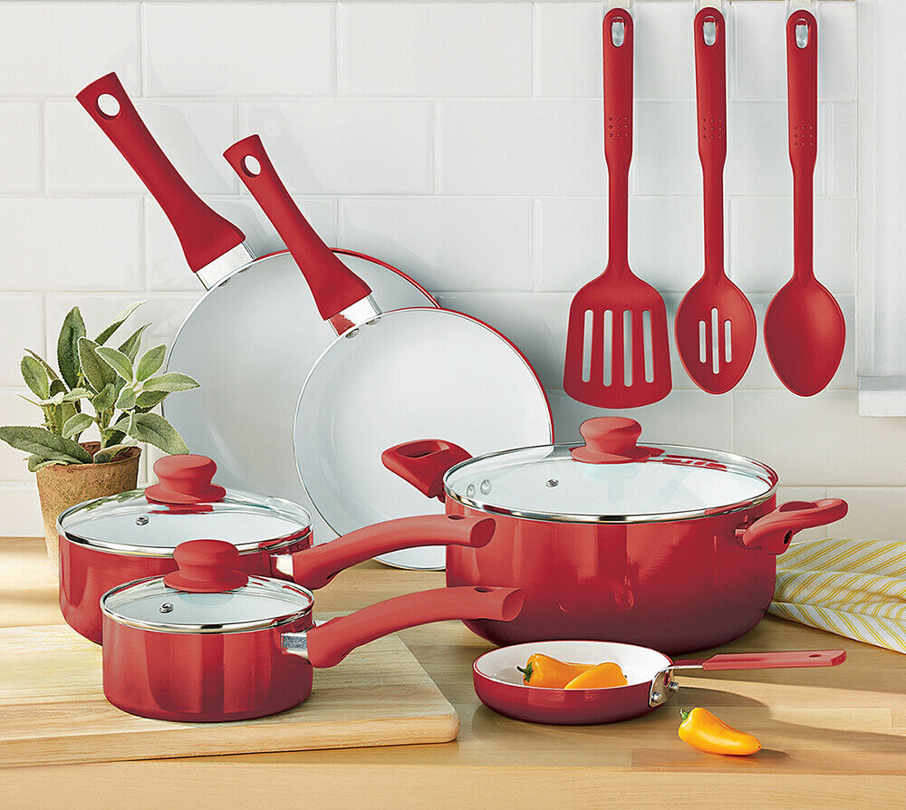 12 Pieces Greenlife Diamond Ceramic Non-stick Cookware Set