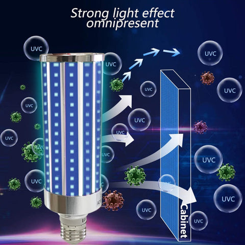 Ultraviolet Germicidal Light Led UV-C Light Bulb with Remote Control 99% AntibacteriaL Safety Light