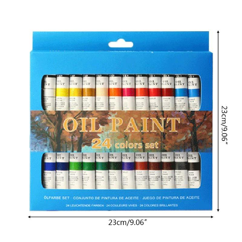 Professional Trough Starter 24 Color Oil Paint Set