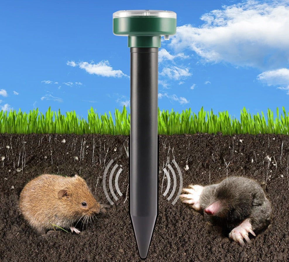 4pcs Solar Powered Ultrasonic Sonic Mouse Repellent Mole Pest Rodent Repeller