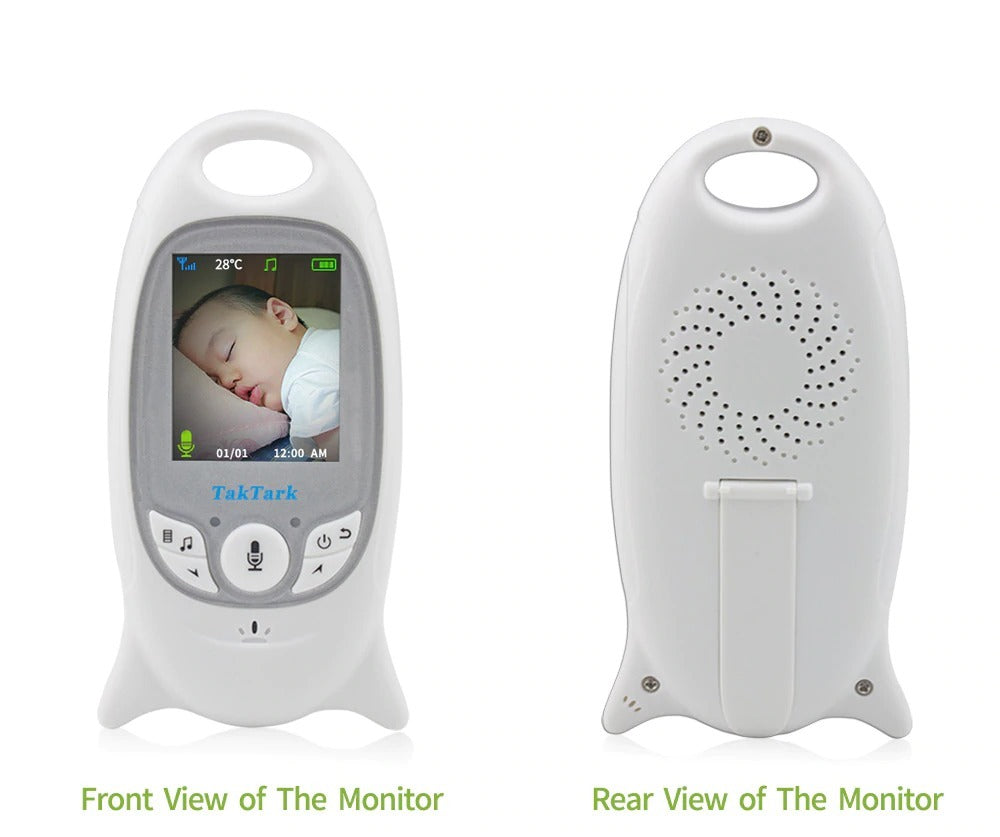 "Video Baby Monitor 2.4"" No Wi-Fi Needed Wireless Infrared Vision Camera 2-Way Audio Lullabies"