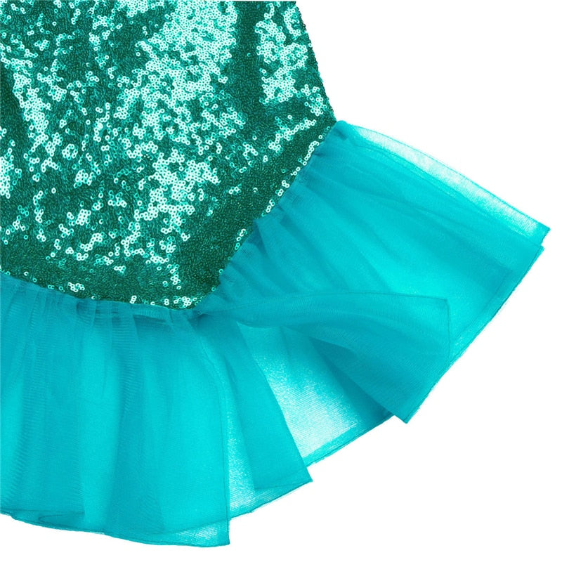 Mermaid Tails for Kids Costume Top & Skirt