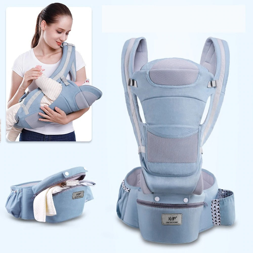 Ergonomic Baby Carrier 15 Uses Baby Infant Carrier with Heap Seat