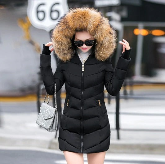 Hooded Womens Winter Coat | Down Jacket With a hood