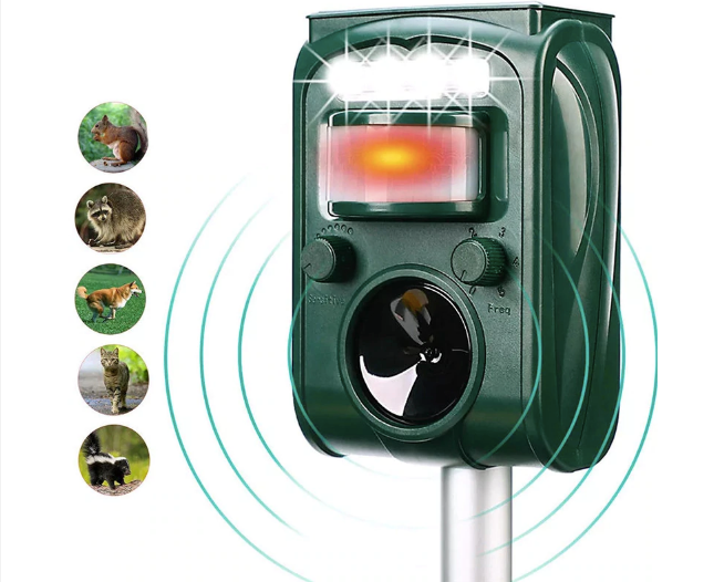 Dog Repellent - Solar Ultrasonic Animal Repeller