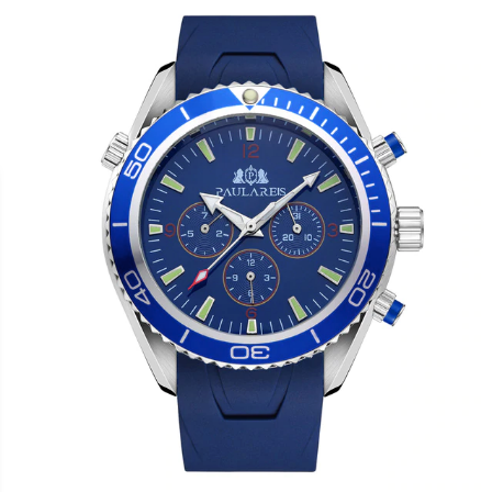 Mens Watch Rubber Strap Automatic Self Wind Mechanical Watch for Men
