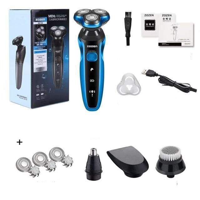 Silver PRO Head and Face Shaver (USB Charging Cable)