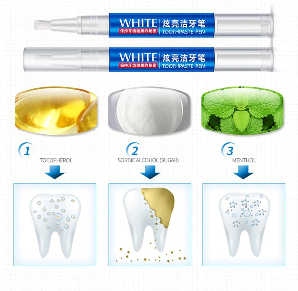 Home Teeth Whitening Kit Gel LED Light